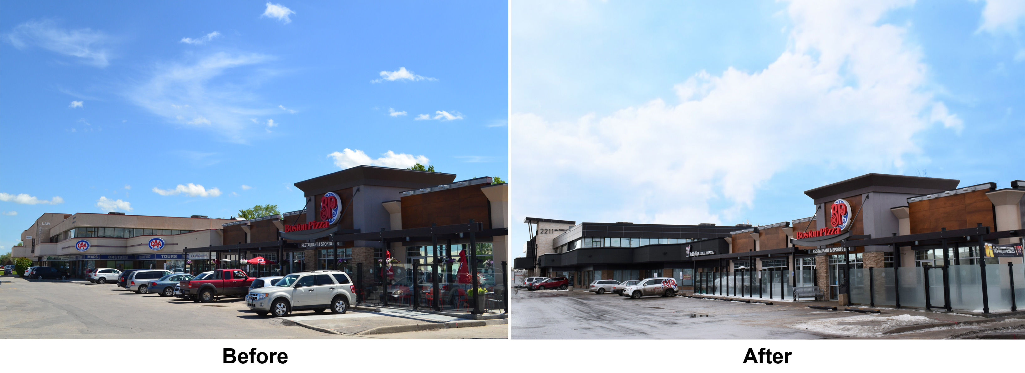 Garden City Plaza, Before and After